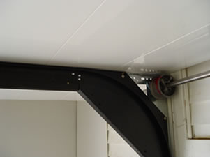low clearance door roller track